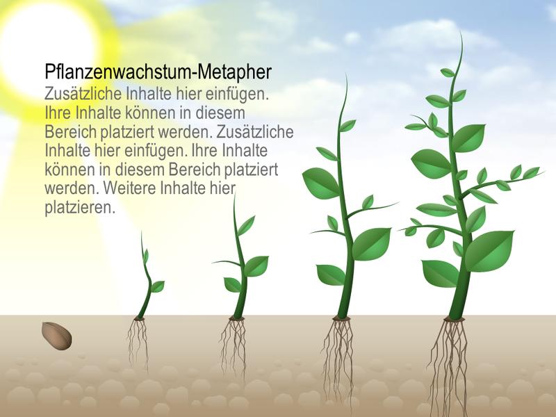 Pflanzenwachstumsgrafik