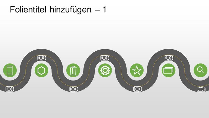 Entwicklungszeitachsen-Straßengrafik
