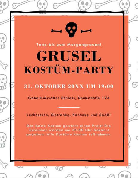 Flyer für Halloween-Partys