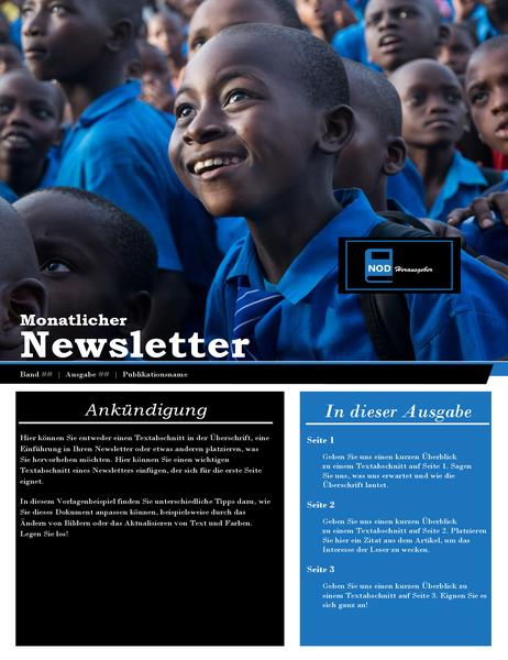 Newsletter für gemeinnützige Organisation