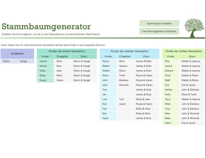 Stammbaum-Generator