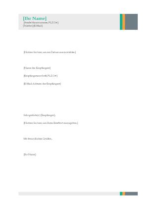 geschftsbrief word - Vorlage Anschreiben Word