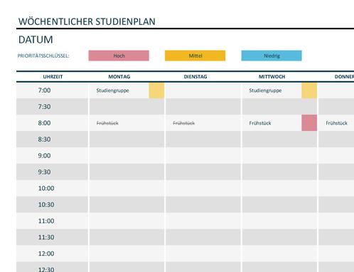 Zeitpläne - Office.com