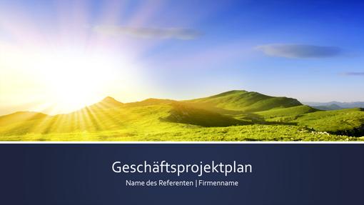 "Präsentation ""Geschäftsprojektplan"" (Breitbild)"