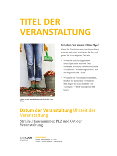 """Kleiner Firmenhandzettel (Design """"Gold"""")"""