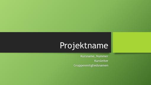 "Präsentation eines Gruppenprojekts (Design ""Berlin"", Breitbild)"