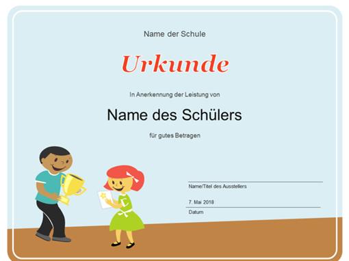 Urkunde (Grundschüler)
