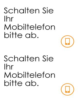 """Erinnerung """"Handys ausschalten"""""""