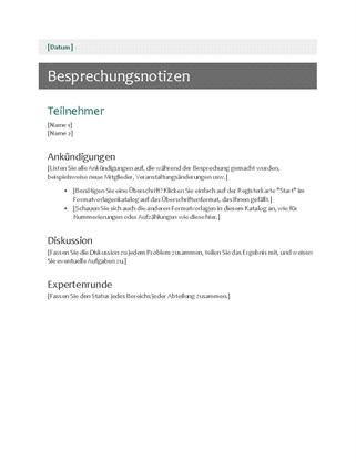 sitzungsprotokoll - office templates, Einladung