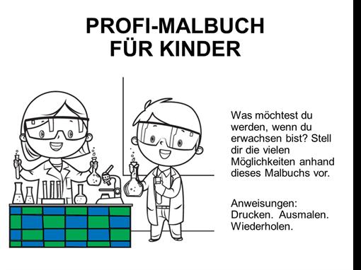 Kindermalbuch zum Thema Beruf