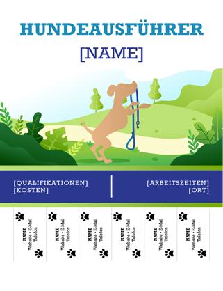 Handzettel Hundeausführer