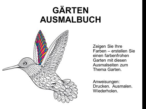 """Malbuch """"Gärten"""""""