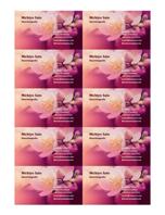 Visitenkarten (Foto mit Blume)