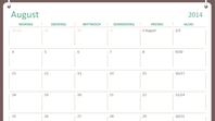 Akademischer Kalender 2014-2015 (August-Juli)