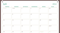 Akademischer Kalender 2014-2015 (Juli-Juni)
