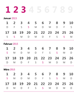 Quartalskalender 2015