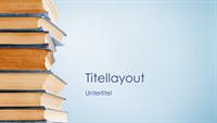 Präsentation Blauer Bücherstapel (Breitbild)