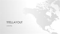 """Serie """"Weltkarten"""", Präsentation """"Nordamerikanischer Kontinent"""" (Breitbild)"""