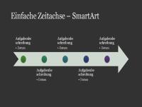 Basiszeitskala (SmartArt, Weiß auf Dunkelgrau, Breitbild)