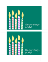 Einladungspostkarte zum Geburtstag