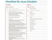 Checkliste Schulstart