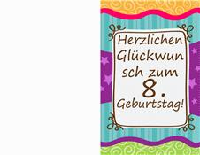 Geburtstagskarte - Sterne und Streifen (Kinder)
