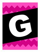 """Banner """"Gute Reise"""" – mit Grafikmustern"""