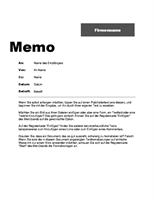 Innerbetriebliches Memo (professionelles Design)