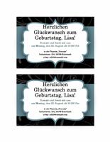 """Partyeinladung (im Design """"Blaues Band"""")"""