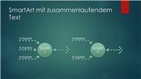 """Prozessdiagramm (zusammenlaufender Text, Design """"Grüne Blasen"""", Breitbild)"""