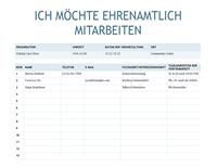 Anmeldebogen für ehrenamtliche Helfer