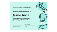 """Zertifikat """"Kindergartendiplom"""""""