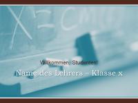 Präsentation: Beginn des neuen Schuljahres