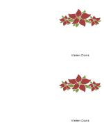 Danksagungskarte (mit Weihnachtssternen)