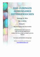 """Handzettel """"Ostereiersuche"""""""