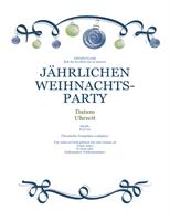 Einladung mit blauen und grünen Ornamenten (formelles Design)