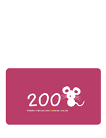 Festliche Grußkarte für 2008 (Jahr der Ratte, gefaltet)