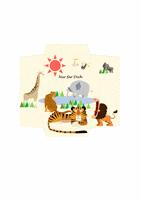 Geldumschlag (Design mit afrikanischen Tieren)