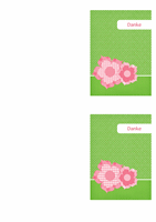 Danksagungskarte (Blumendesign)