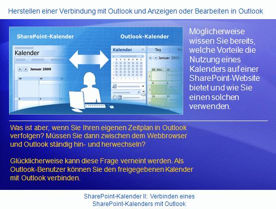 Schulungspräsentation: SharePoint Server2007 – Verbinden eines SharePoint-Kalenders mit Outlook