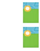 Dankeskarte (Wolkendesign)