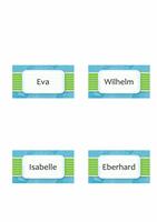 Namens- oder Platzkarten (Wolkendesign, Einfachfaltung)