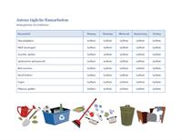 Checkliste für die Aufgaben eines Kindes im Haushalt