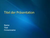 """Beispielpräsentationsfolien (Design """"Blaues Band"""")"""