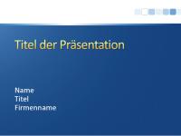 """Beispielpräsentationsfolien (Design """"Blau mit weißem Streifen"""")"""