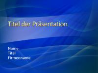 """Beispielpräsentationsfolien (Design """"Blaues Rauschen"""")"""