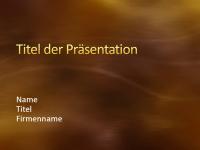 """Beispielpräsentationsfolien (Design """"Gebürstetes Gold mit Kurven"""")"""
