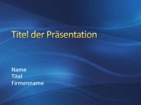 """Beispielpräsentationsfolien (Design """"Dunkelblaues Rauschen"""")"""