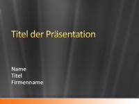 """Beispielpräsentationsfolien (Design """"Graues Satin mit organefarbigem Band"""")"""