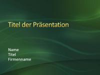 """Beispielpräsentationsfolien (Design """"Grüne Wirbel"""")"""